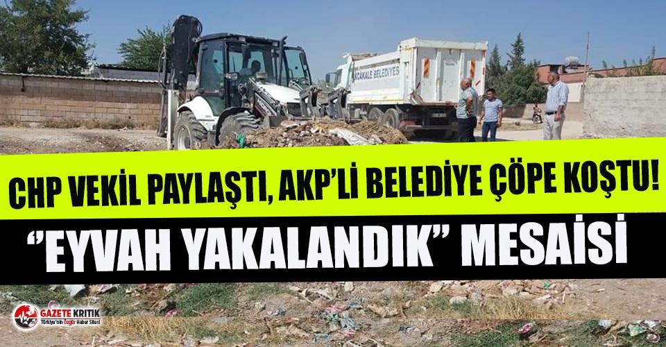 AKP'li Belediye'nin ''Eyvah Yakalandık''...