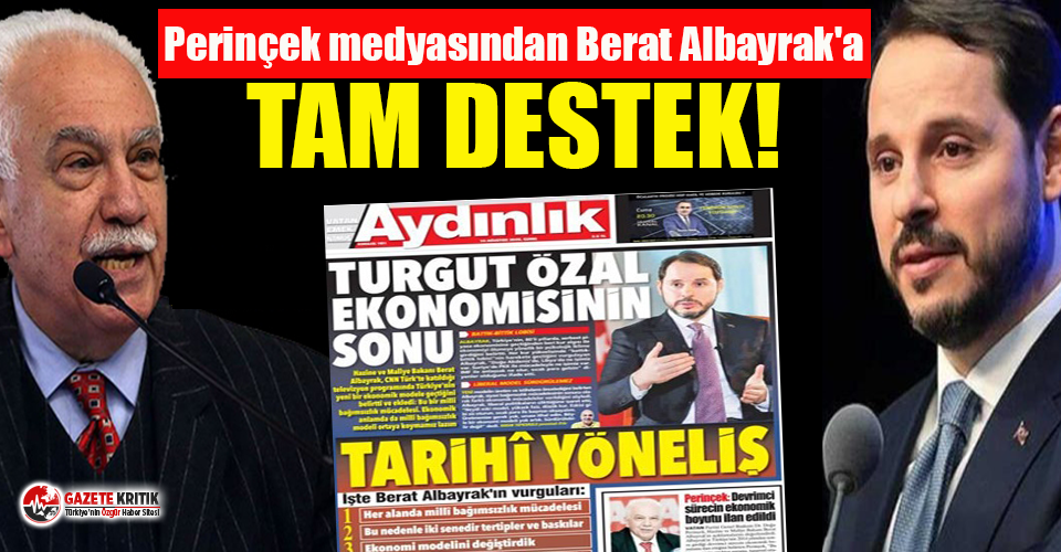 AKP'nin gizli ortağı Perinçek'ten Berat Albayrak'a tam destek!