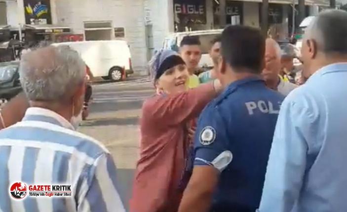 Atatürk'ü sevmiyorum diye bağıran kadın...