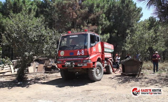 Aydos'ta Yangın Paniği