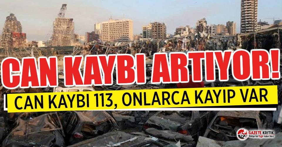 Beyrut'taki patlamada can kaybı 113'e yüksedi