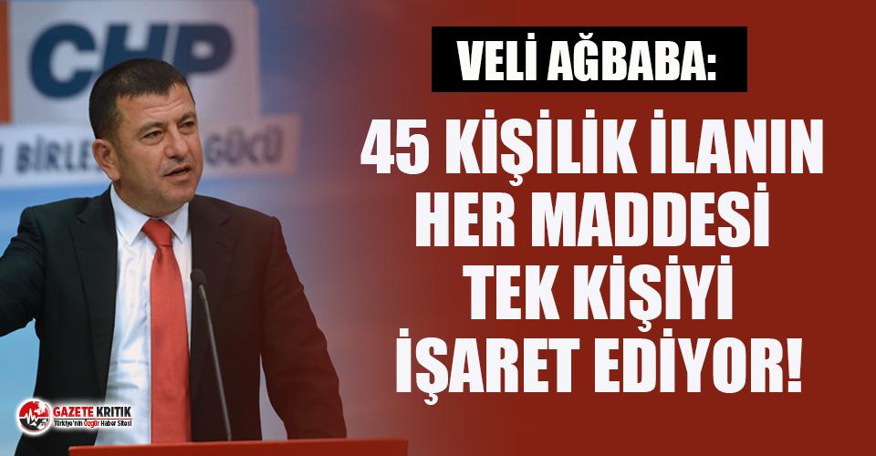 CHP'li Ağbaba'dan 'adrese teslim akademik kadro' açıklaması!