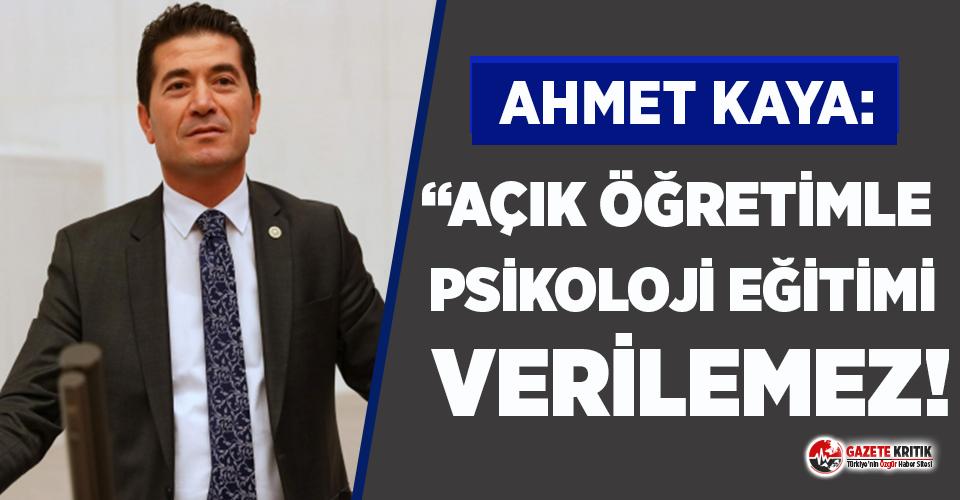 CHP'li Ahmet Kaya'dan psikologlara destek!