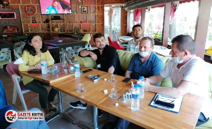 CHP'li Kayışoğlu servis taşımacılığı yapan esnafla buluştu