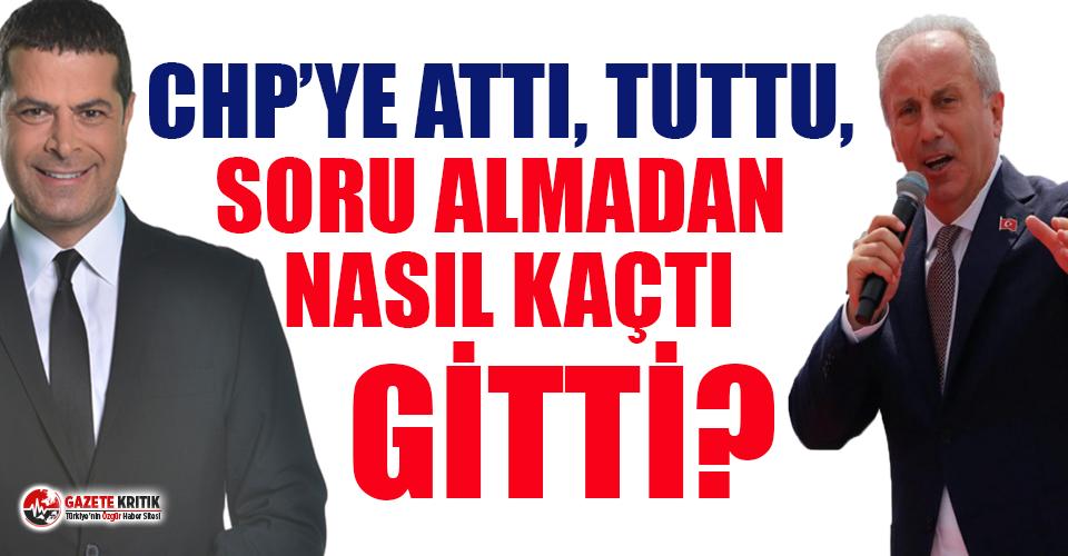 Cüneyt Özdemir: Muharrem İnce CHP'ye attı, tuttu, soru almadan nasıl kaçtı gitti!