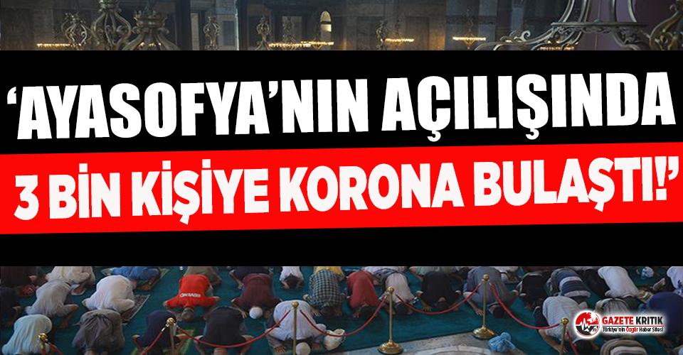 Doçent Üner'den covid-19 iddiası: Ayasofya açılışında 3 bin kişiye korona bulaştı