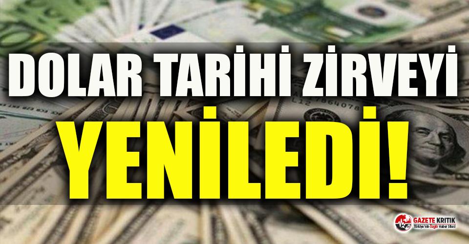 Dolar kuru 7,32 ile tarihinin en yüksek seviyesini yeniledi!