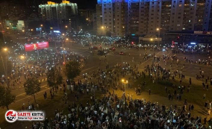 Dünya'nın en güvenli şehirlerinden biri olan Minsk'te halk sokaklarda:Şiddet olayları tırmanıyor!