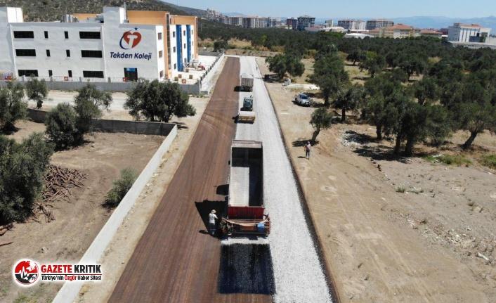 Edremit'te yollar asfaltla donatılıyor