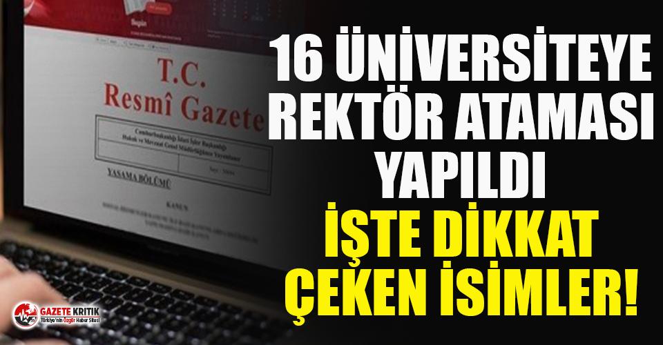 Erdoğan'ın rektör atamasında dikkat çeken...