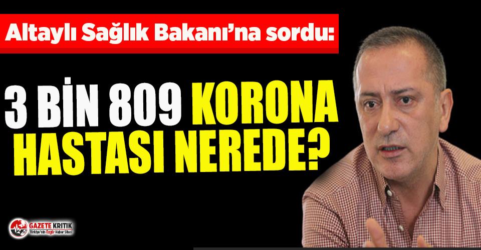 Fatih Altaylı, Sağlık Bakanlığı'na sordu:...