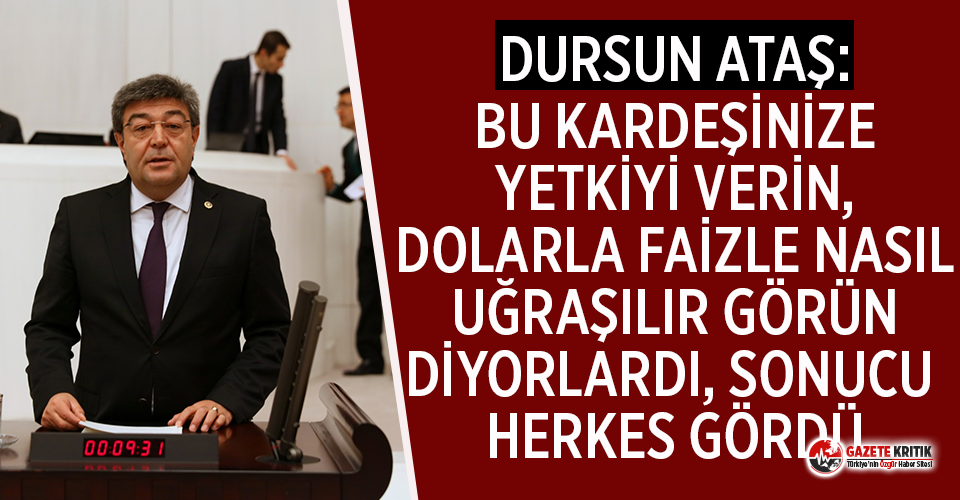İYİ Parti'li Ataş'tan hükümete sert sözler!