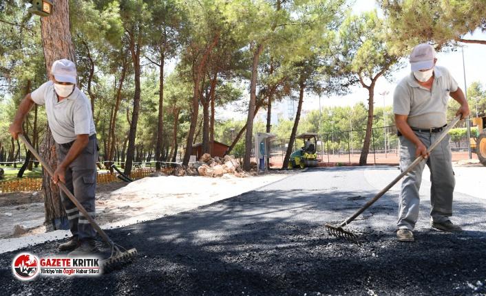 Konyaaltı Belediyesi'nden HayatPark'ın yollarına sıcak asfalt