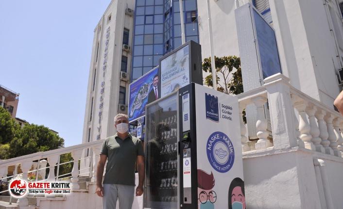 Kuşadası'nda tıbbi maskelere erişim maskematikle...