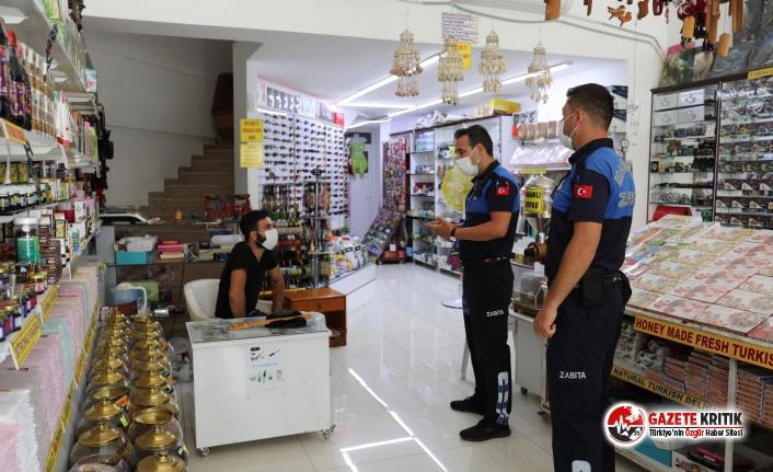 Marmaris'te Zabıta Kapı Kapı Gezip Önlemleri Anlatıyor