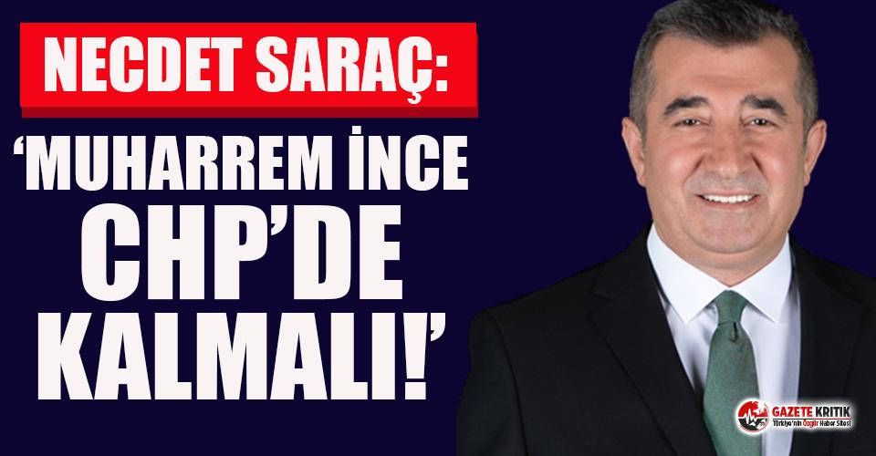 Necdet Saraç yazdı: Muharrrem İnce, CHP'de kalmalı!