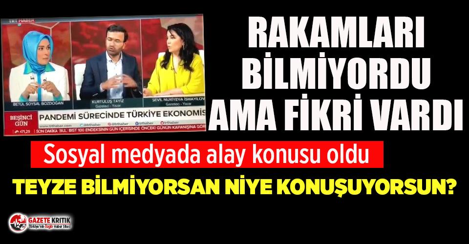 TRT'deki ekonomi yorumu tiye alındı: Teyze bilmiyorsan niye konuşuyorsun?