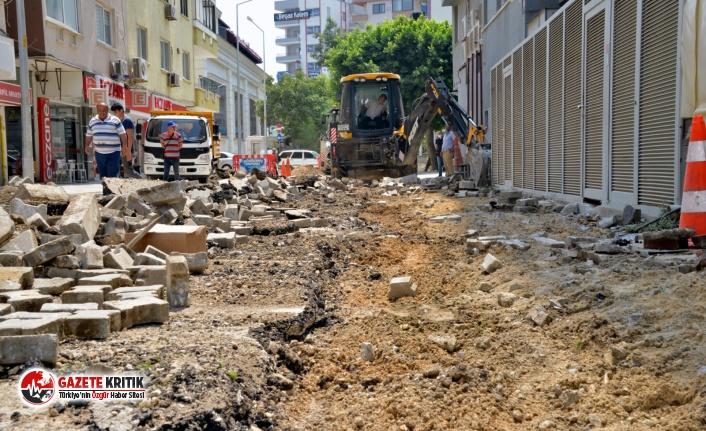 Yenişehir Belediyesi Alanya Sokağı'nda çalışmalarına başladı