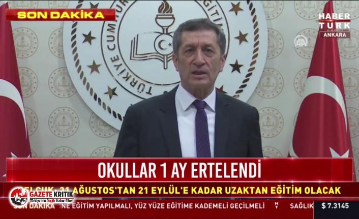 Ziya Selçuk: Okullar 31 Ağustos'ta uzaktan...