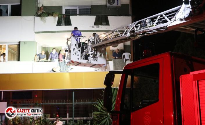 5. kattan düştü, şans eseri hayatta kaldı!
