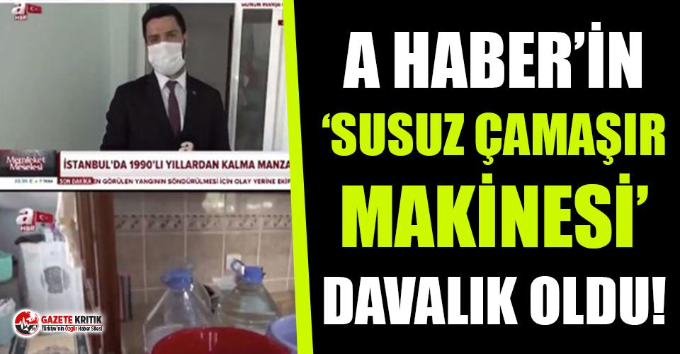 A Haber'de yayınlanan 'Susuz çamaşır...