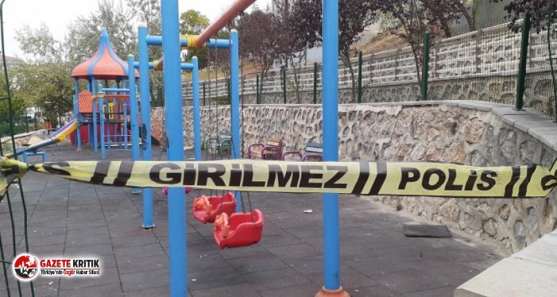 Ankara'da bir kişi eşini parkta oynayan çocuğunun...