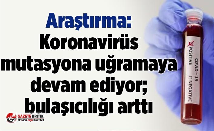 Araştırma: Koronavirüs mutasyona uğramaya devam ediyor; bulaşıcılığı arttı
