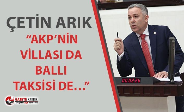 ARIK, ADRESE TESLİM İHALE İDDİALARINI MECLİSE...