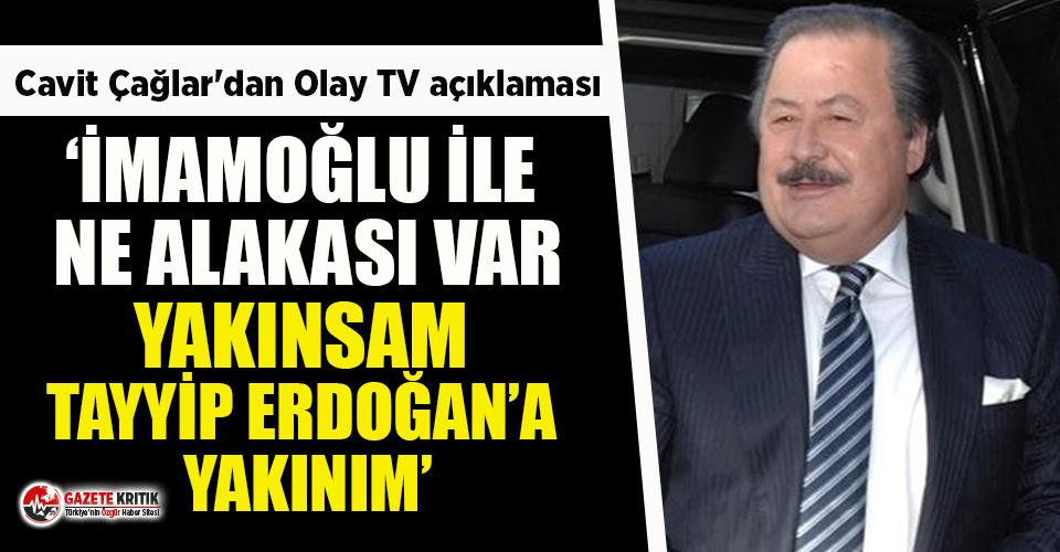 Cavit Çağlar'dan iddialara yanıt: İmamoğlu...