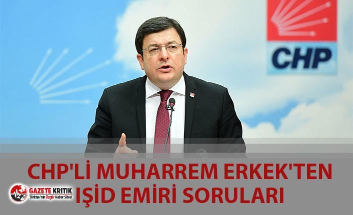 CHP'Lİ MUHARREM ERKEK'TEN IŞİD EMİRİ SORULARI