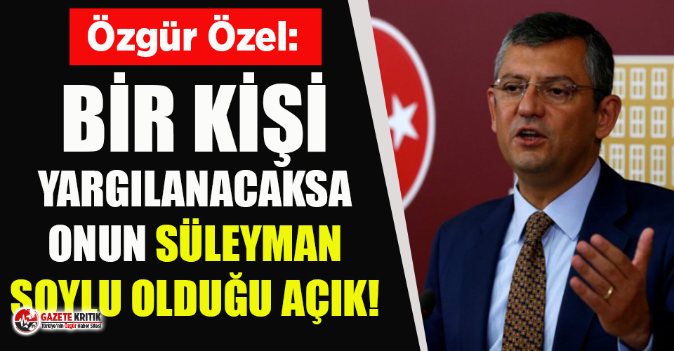 CHP'li Özgür Özel'den CHP'li Banu Özdemir'in yargılanmasına tepki!