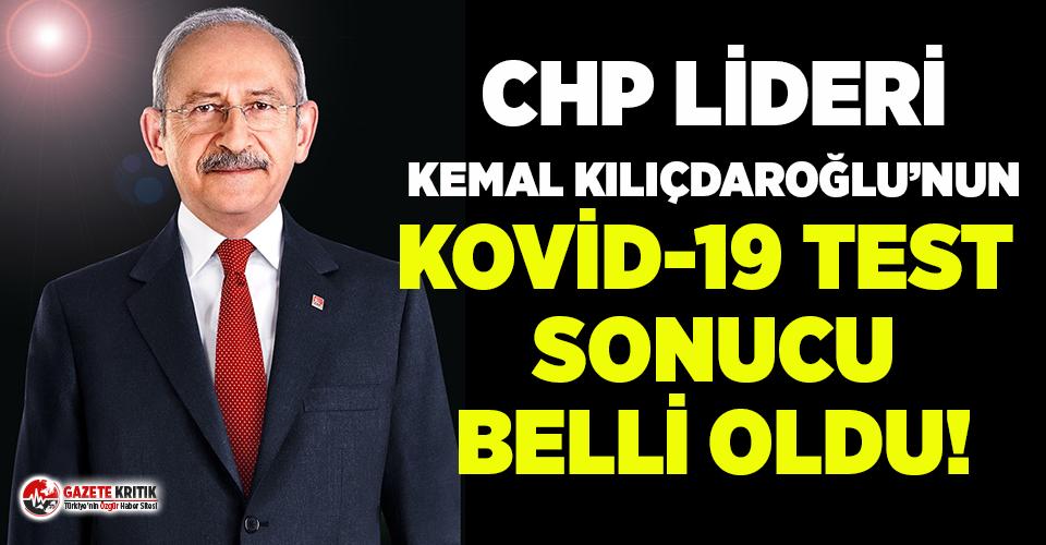 CHP lideri Kılıçdaroğlu Covid-19 testi yaptı!...