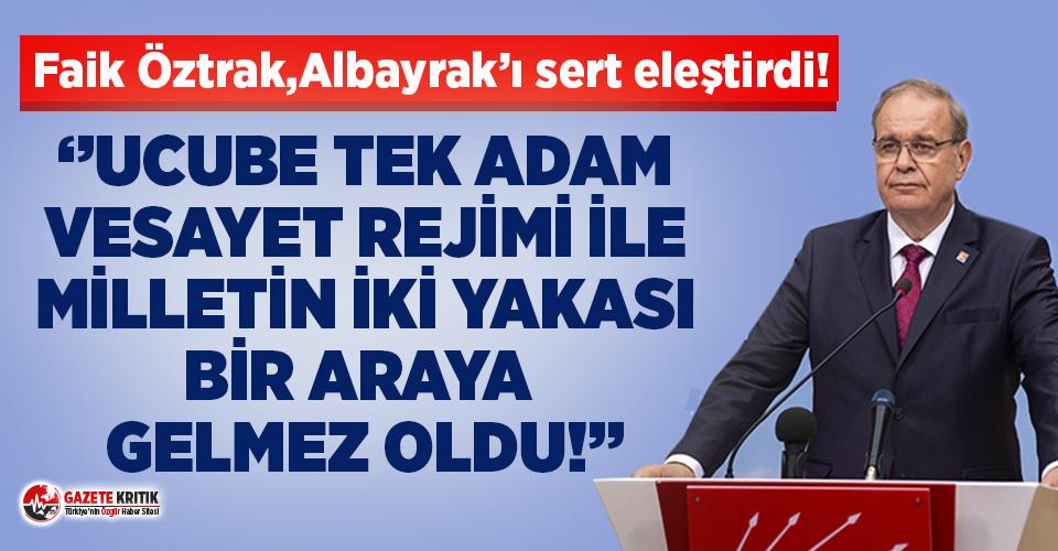 CHP'li Faik Öztrak'tan Albayrak'a verilerle sert tepki!