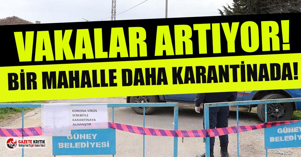 Denizli'de bir mahalle karantinaya alındı
