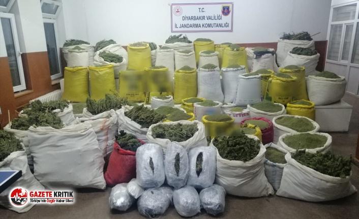 Diyarbakır'da 1,7 ton esrar ele geçirildi