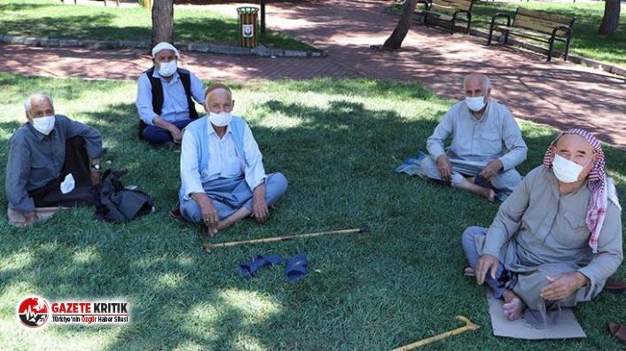Erzincan'da 65 yaş ve üstü vatandaşlara sokağa...