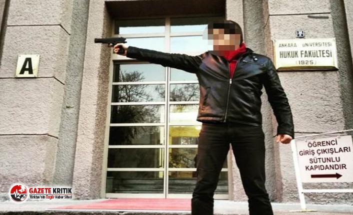 Fakülte önünde silahla fotoğrafı olan araştırma görevlisi istifa etti