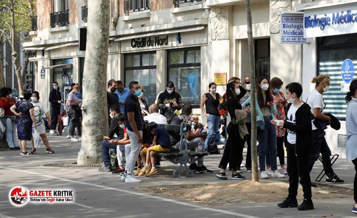 Fransa'da son 24 saatte 10 bin 593 yeni koronavirüs vakası görüldü