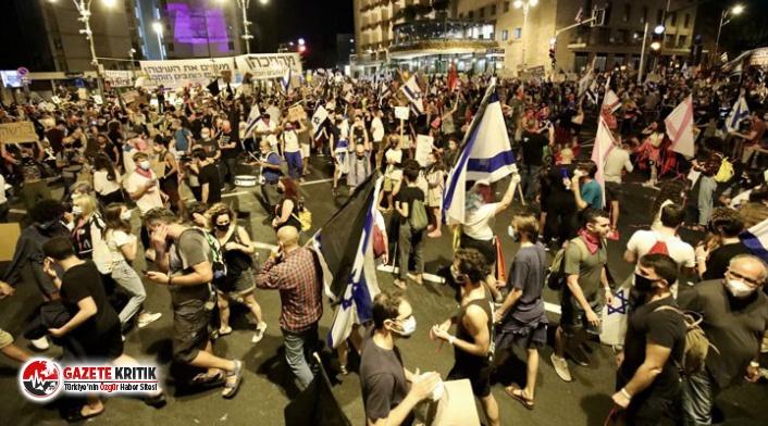 İsrail'de karantinaya rağmen Netanyahu karşıtı...