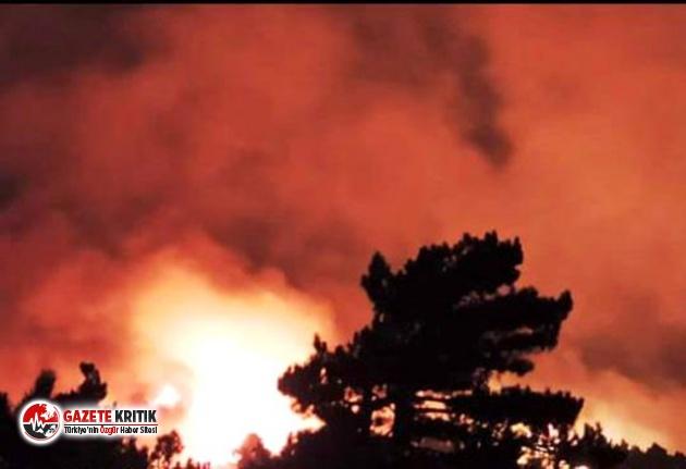 İzmir'de başlayan yangın Balıkesir'e...