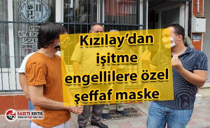 Kızılay'dan işitme engellilere özel şeffaf maske