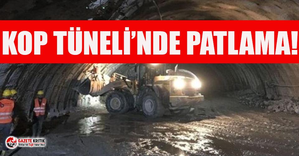 Kop Tüneli'nde patlama ve göçük: 11 yaralı