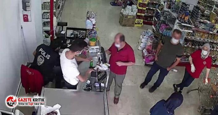 Koronavirüse yakalanan vatandaş market alışverişinde yakalandı
