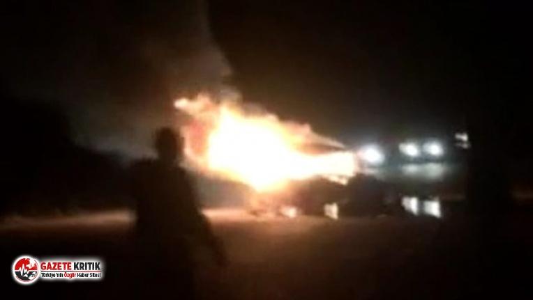 LPG'li araç bomba gibi patladı: 3 kişi yanarak...