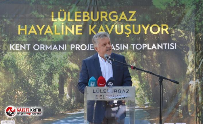 """""""Lüleburgaz kent ormanı hayaline kavuşuyor"""""""