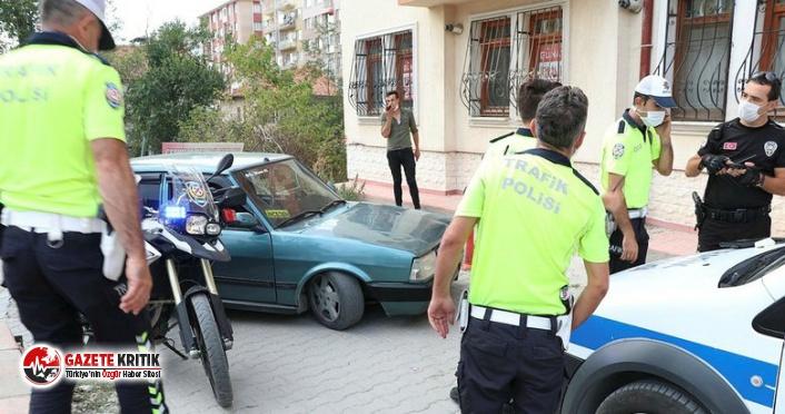 Polisin dur ihtarına uymadı, arabanın değeri kadar...