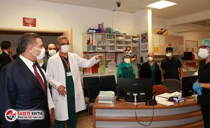 Sağlık Bakanı Koca, saldırıya uğrayan sağlık çalışanlarını ziyaret etti