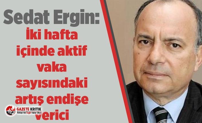 Sedat Ergin: İki hafta içinde aktif vaka sayısındaki artış endişe verici