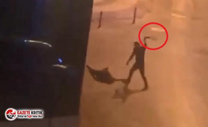 Tanımadığı kişiyi kemerle öldüresiye dövdü