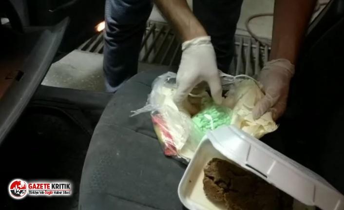 Uyuşturucular lavaş dürüm arasından çıktı